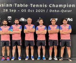 نتیجه تاریخی تیم ملی تنیس روی میز در قهرمانی آسیا/ ایران پنجم شد