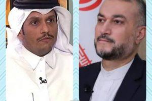 همکاری برای تأمین صلح و امنیت در خلیج فارس محور مذاکرات وزرای خارجه ایران و قطر